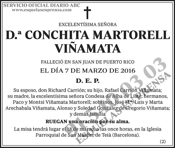 Conchita Martorell Viñamata